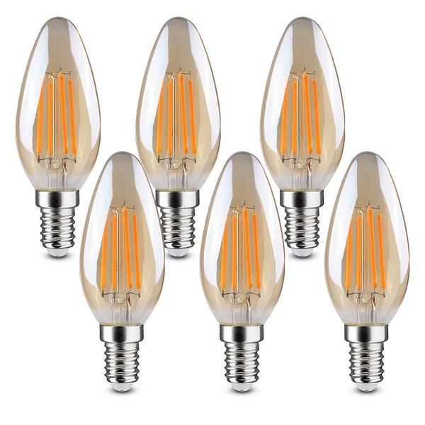 لامپ فیلامنتی 4 وات کلور مدل L-BL-0120 پایه E14 بسته 6 عددی
