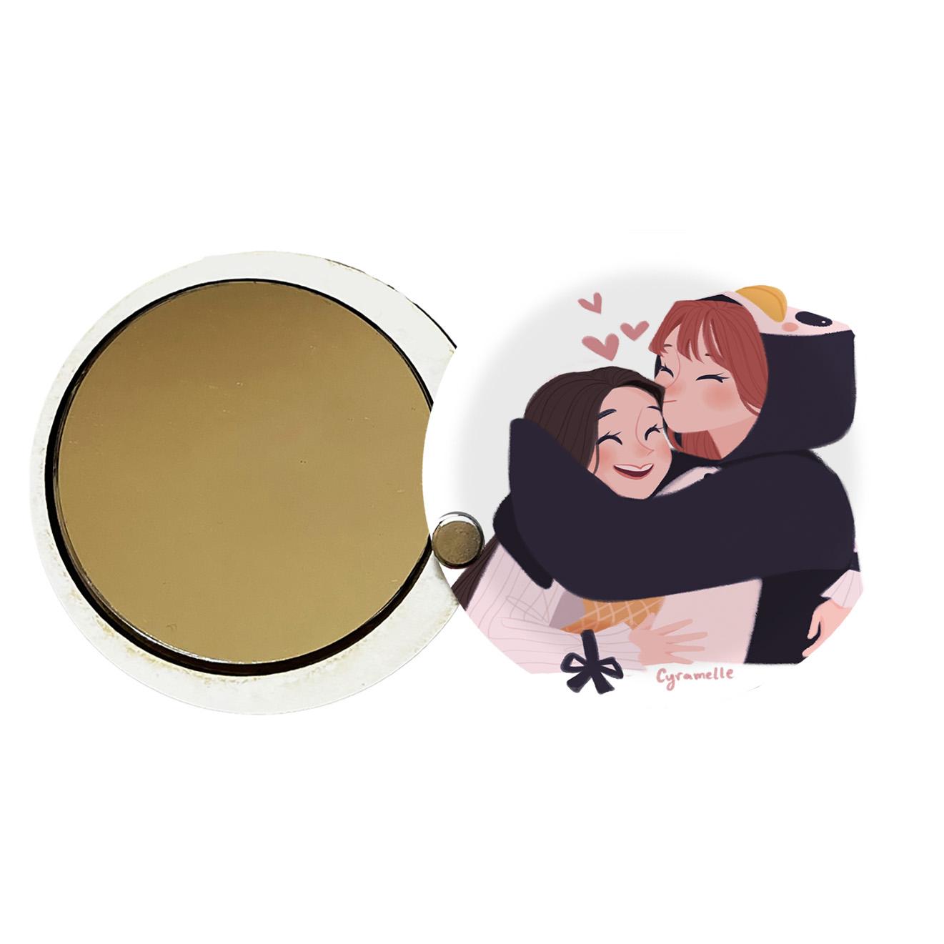 آینه جیبی طرح دخترانه کد ay107