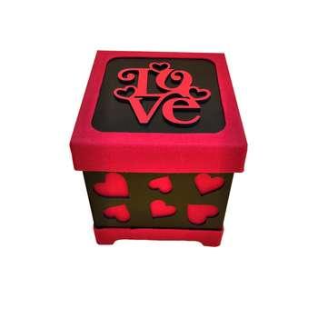 جعبه هدیه طرح قلبی کد 151515