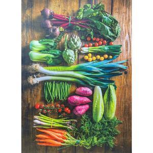 فرش پارچه ای مدل آشپزخانه طرح سبزیجات