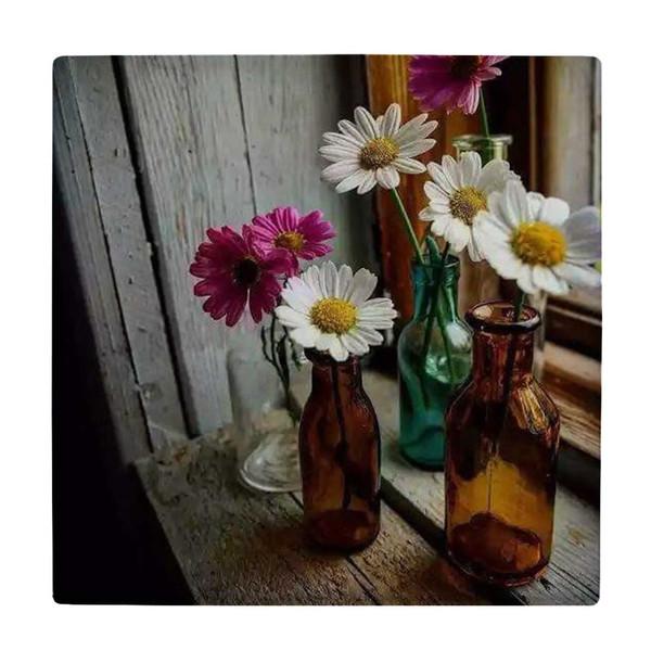 کاشی طرح گلدان شیشه ای و پنجره کد wk3879