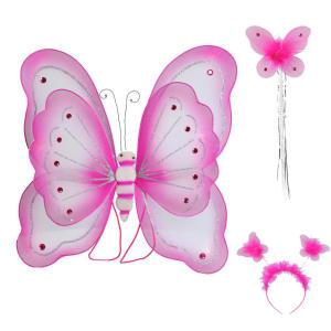 ست دخترانه طرح بال پروانه مدل parva