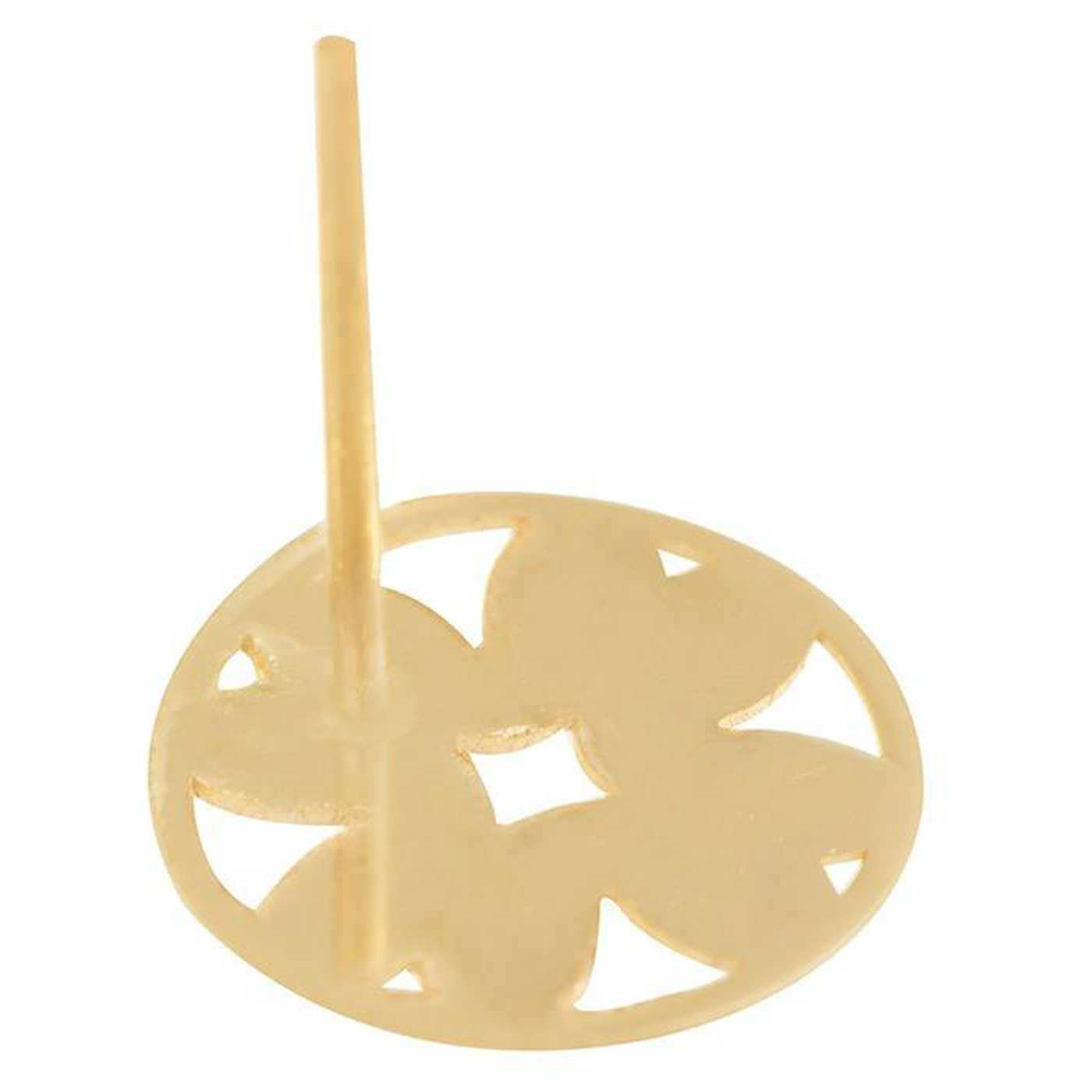 گوشواره طلا 18 عیار زنانه کانیار گالری کد GOA114 -  - 5