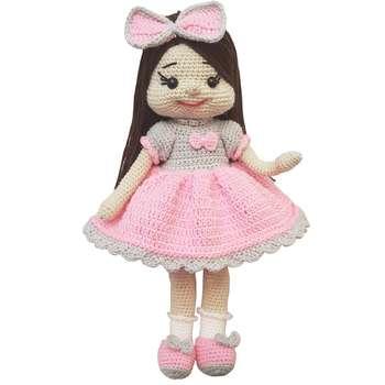 عروسک بافتنی مدل خانوم گل