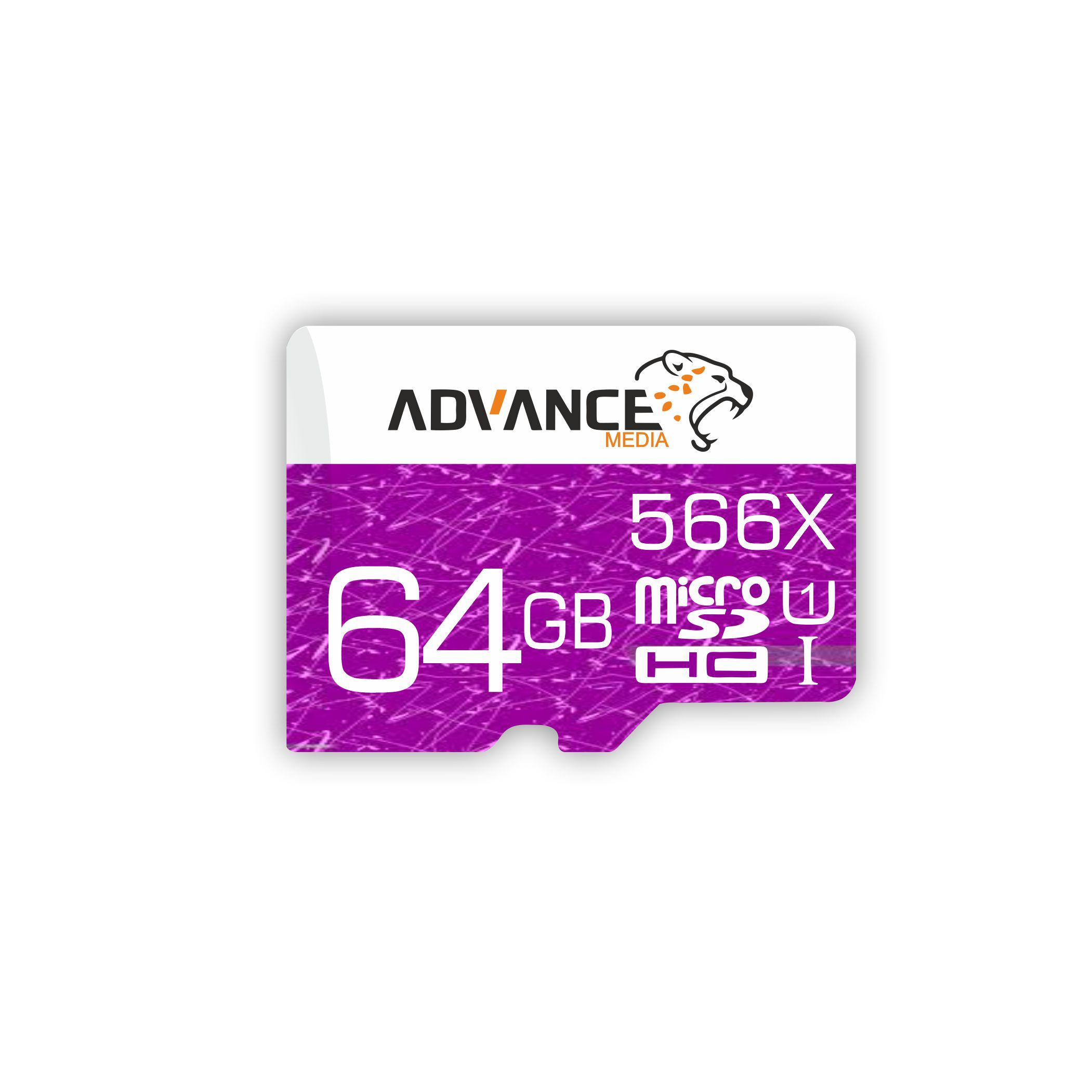 کارت حافظه microSDHC ادونس مدل 566X کلاس 10 استاندارد UHS-I U1 سرعت 85MBps ظرفیت 64 گیگابایت