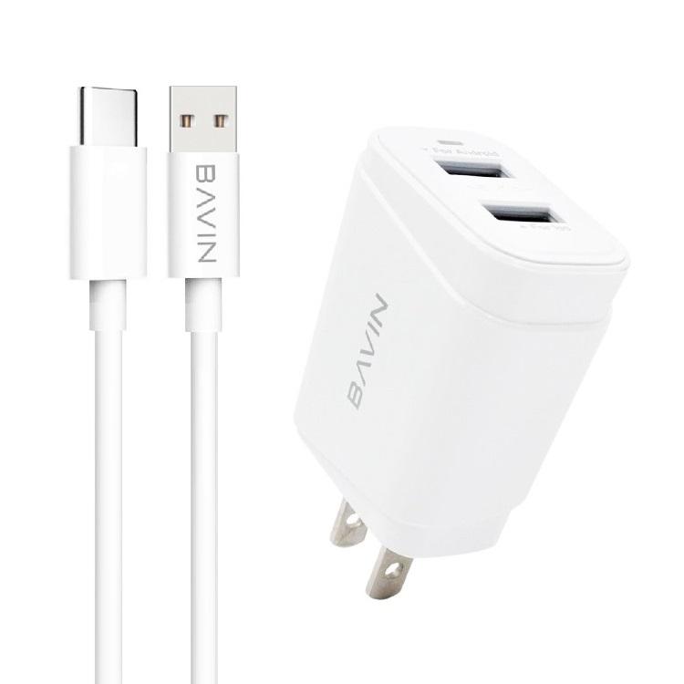 شارژر دیواری باوین مدل PC529Y به همراه کابل تبدیل USB-C