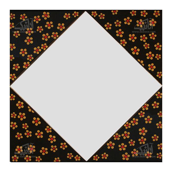 آینه همجوشی شیشه    رنگ مشکی طرح گل بهاری  مدل 1509800006