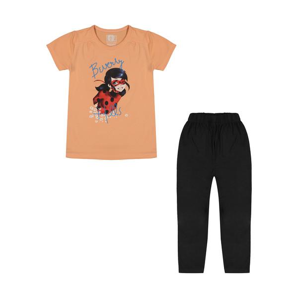 ست تی شرت و شلوار دخترانه سون پون مدل 1391578-8499