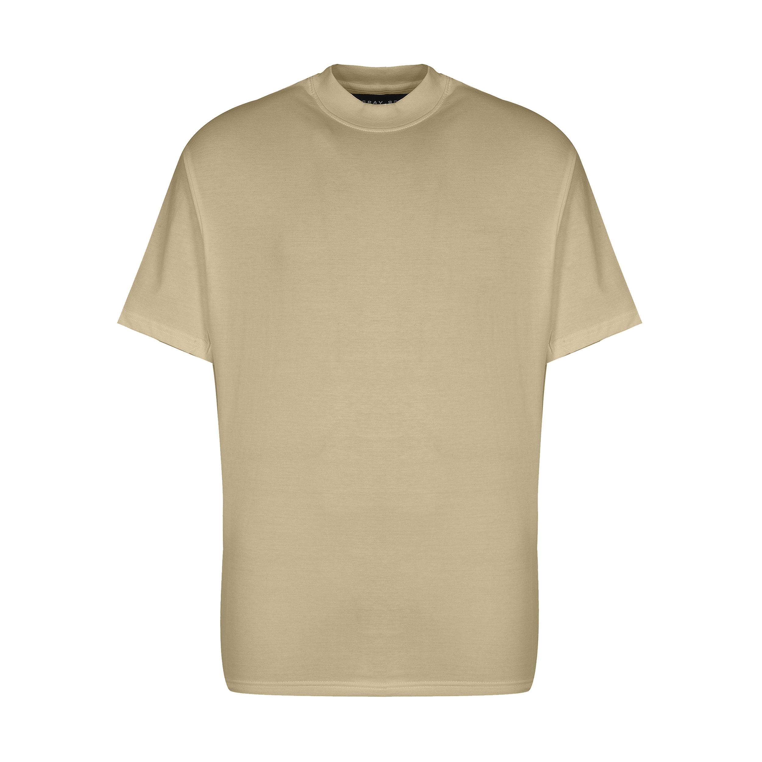 تیشرت آستین کوتاه مردانه گری مدل H34