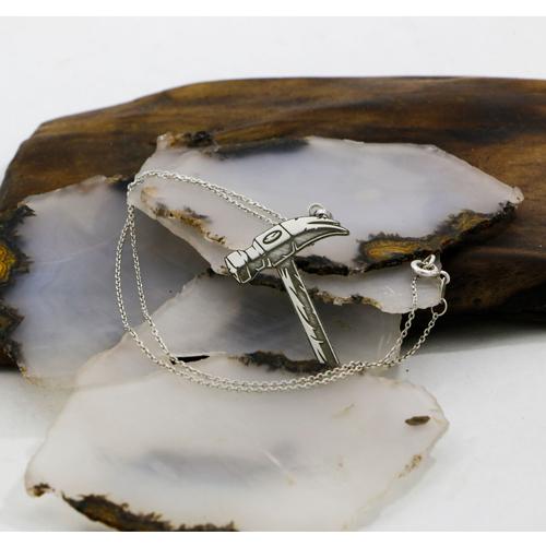 گردنبند نقره زنانه دلی جم طرح چکش  کد D 294