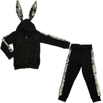 ست سویشرت و شلوار دخترانه طرح خرگوش
