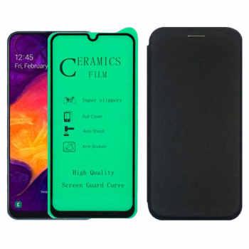 کیف کلاسوری لمبر مدل LAMMGNT-CER-1 مناسب برای گوشی موبایل سامسونگ Galaxy A70/A70s به همراه محافظ صفحه نمایش