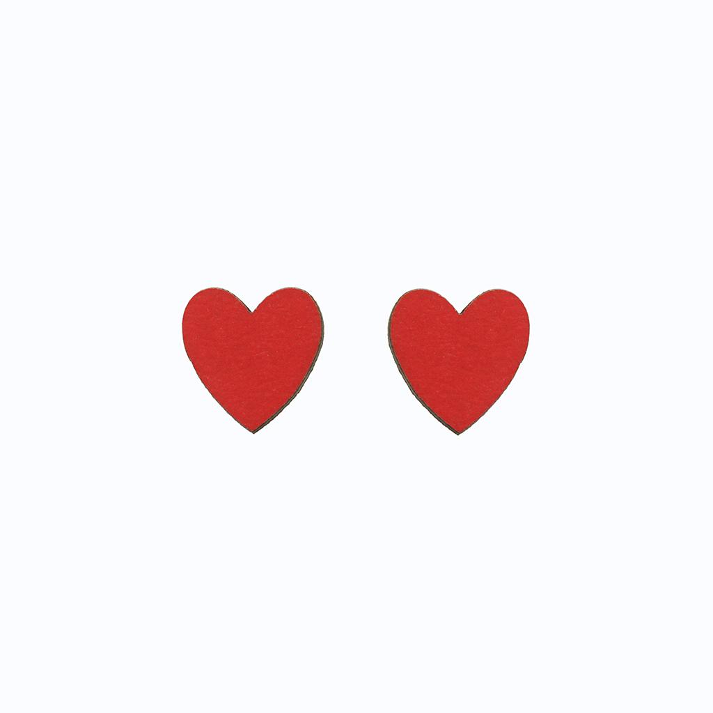 گوشواره زنانه طرح قلب مدل 12