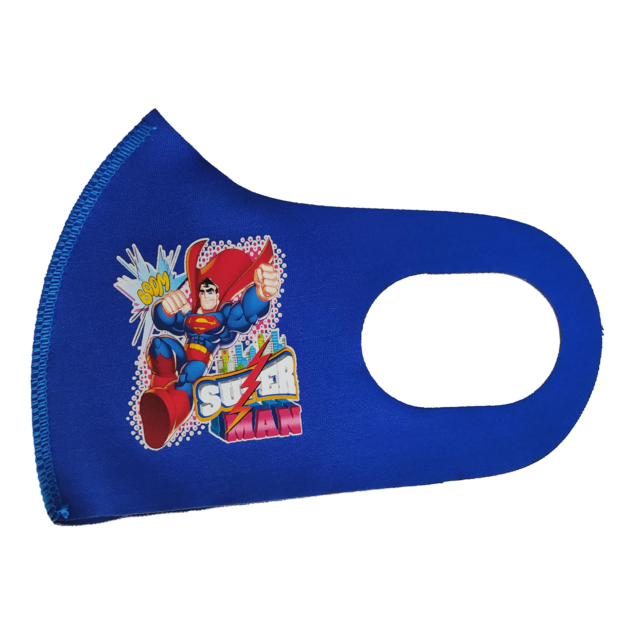 ماسک تزیینی بچگانه طرح سوپرمن کد 30644 رنگ آبی
