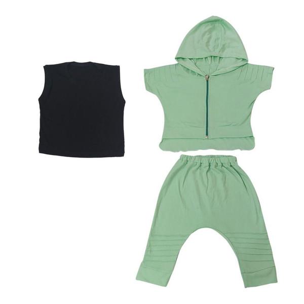 ست سه تکه لباس بچگانه کد 7209-1