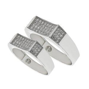 ست انگشتر نقره زنانه و مردانه مدل ghy9998886