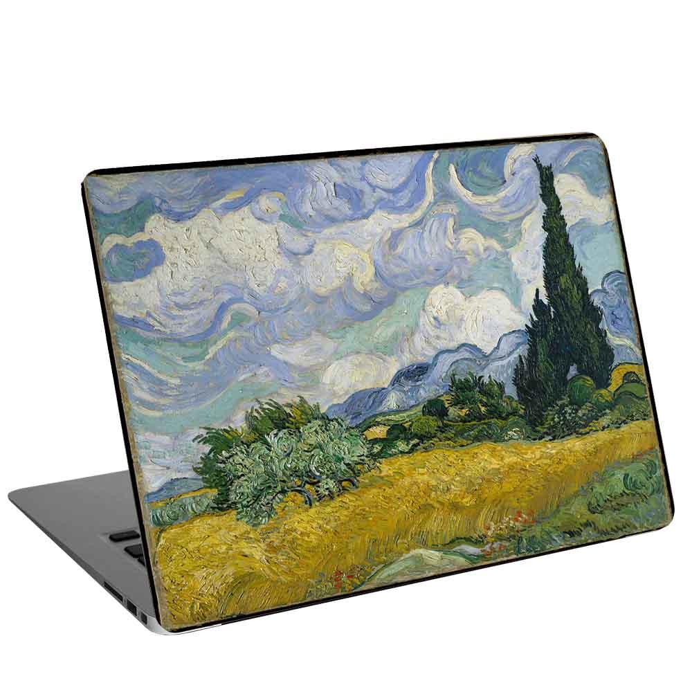 استیکر لپ تاپ طرح A Wheatfield, with Cypresses by Vincent van Gogh کد cl-16 مناسب برای لپ تاپ 15.6 اینچ