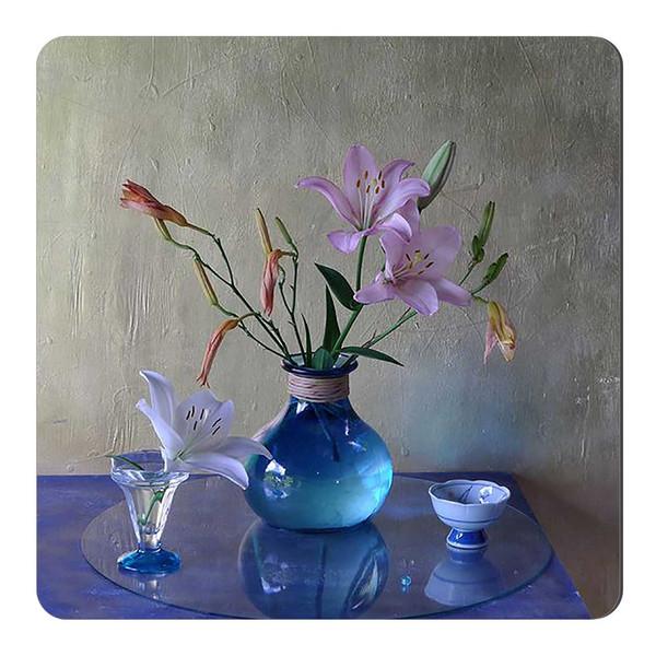 مگنت طرح گلدان شیشه ای گل کد wmg1779