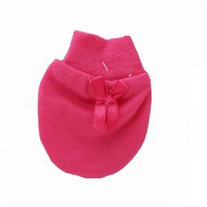 دستکش نوزادی طرح پاپیون رنگ صورتی