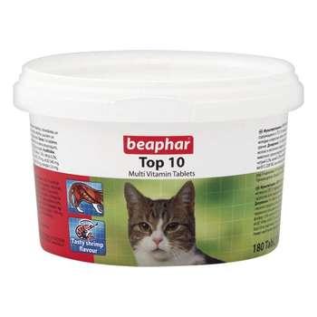 تصویر قرص ویتامینه تاپ تن مناسب گربه برند بیفار Beaphar Top 10 Catl For Cat