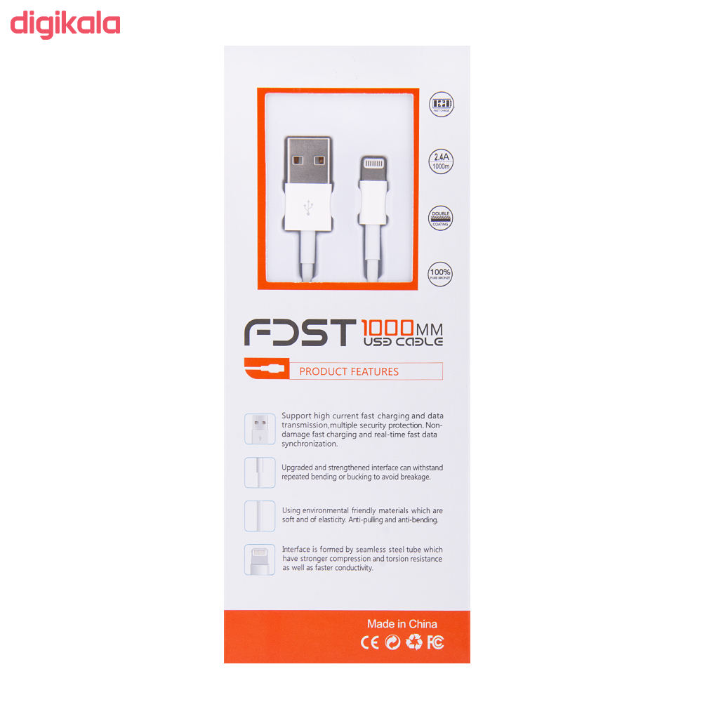 کابل شارژ آیفون USB به لایتنینگ جی.تی.آر مدل UL طول 1 متر main 1 2
