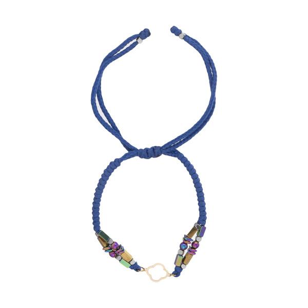 دستبند طلا 18 عیار زنانه نیوانی مدل Ba1013