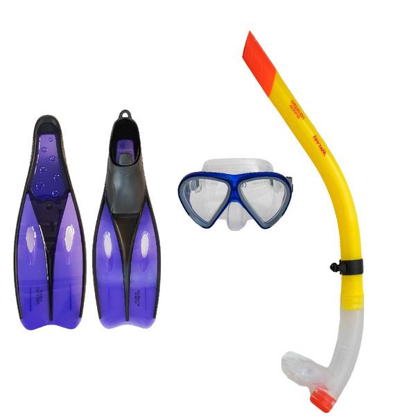 عینک و اسنورکل و فین غواصی آکوا پرو مدل 523839