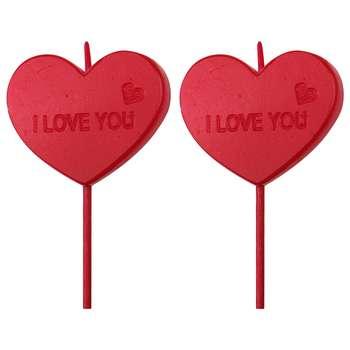 شمع مدل عشق 222 بسته 2 عددی