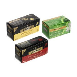 چای ارل گری و سنتی انگلیسی توینینگز بسته 50 عددی به همراه چای سبز توینینگز بسته 20 عددی