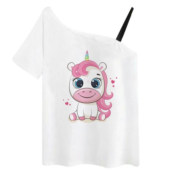 تی شرت زنانه مدل یونیکورن کد f1505k