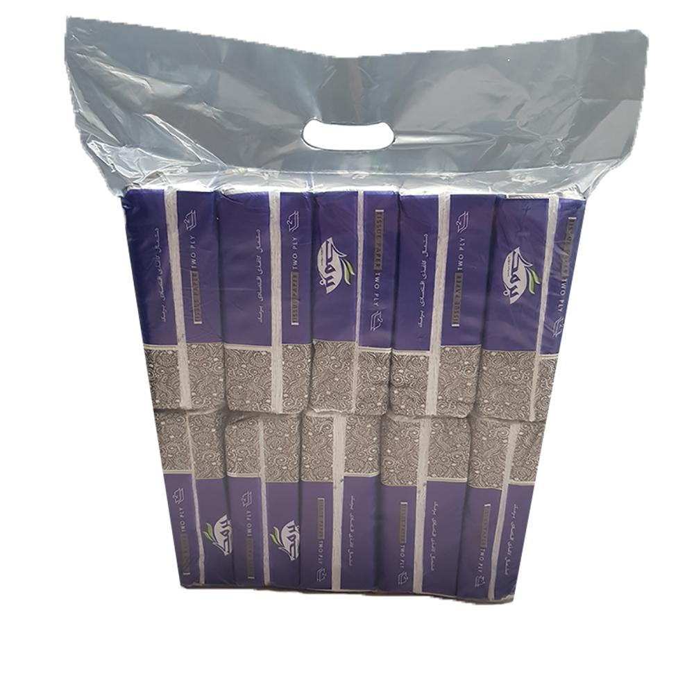 دستمال کاغذی 100 برگ برمک مدل B1 بسته 10 عددی
