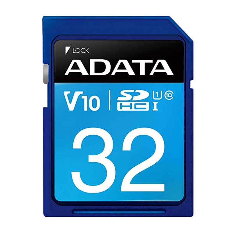کارت حافظه SDXC ای دیتا مدل Premier V10 کلاس 10 استاندارد UHS-I U1 سرعت 100MBps ظرفیت 32 گیگابایت
