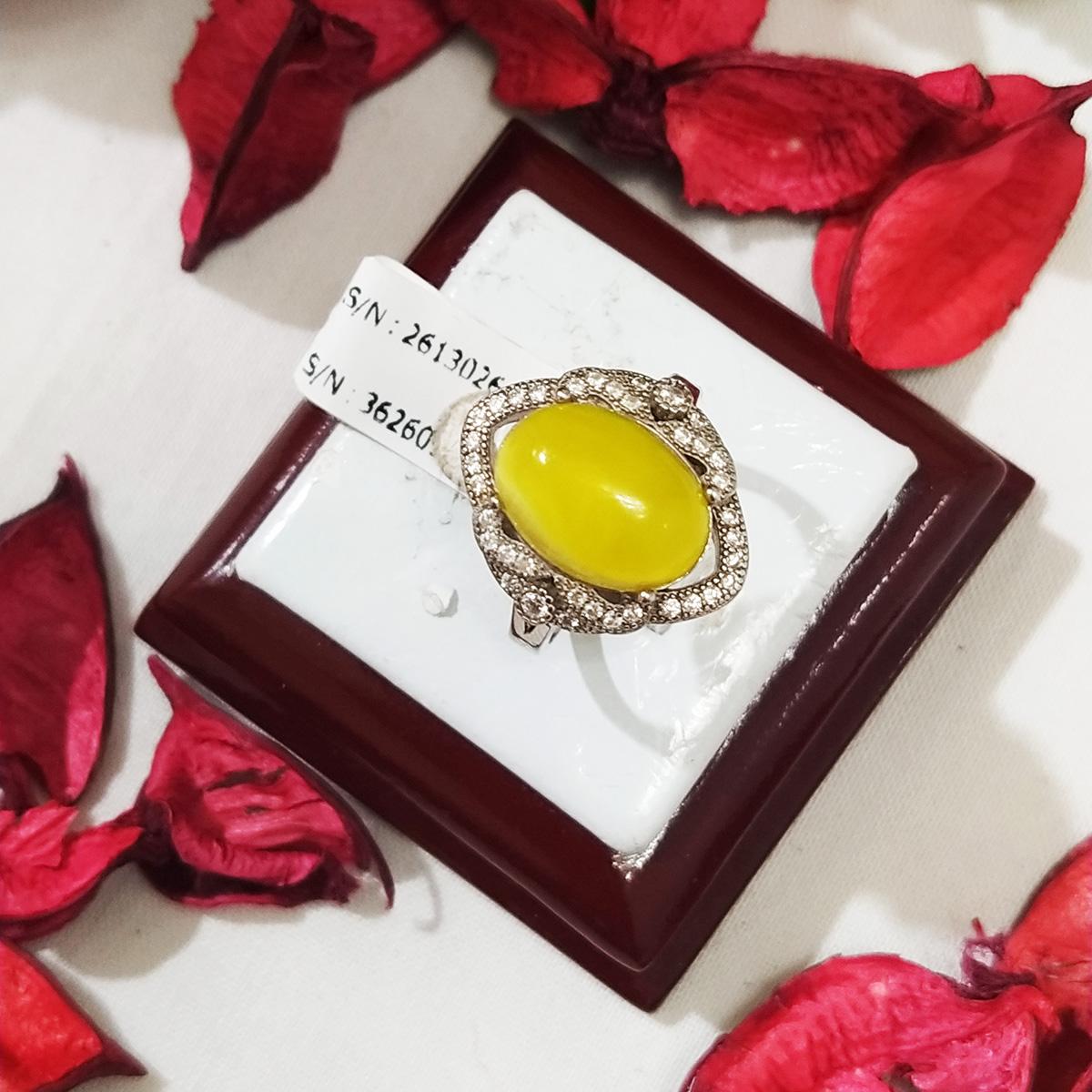 انگشتر نقره زنانه سلین کالا مدل شرف الشمس کد ce-As108