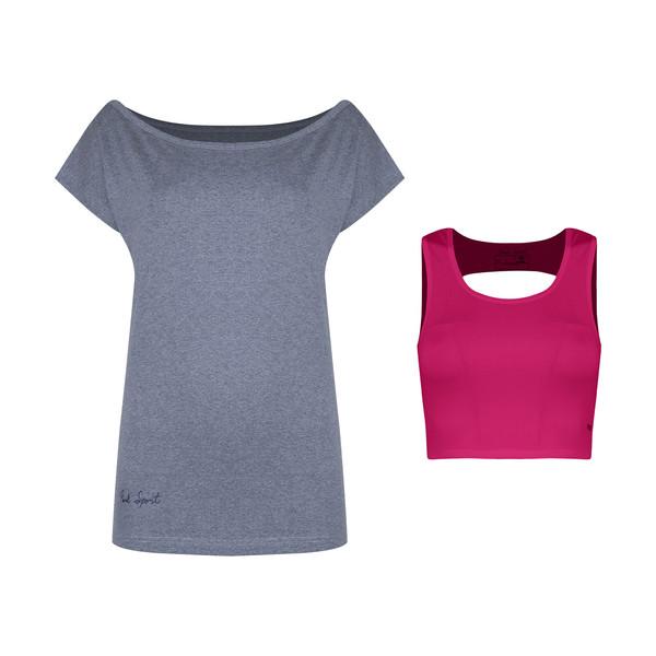 ست تی شرت و نیم تنه ورزشی زنانه پانیل مدل 167MRB
