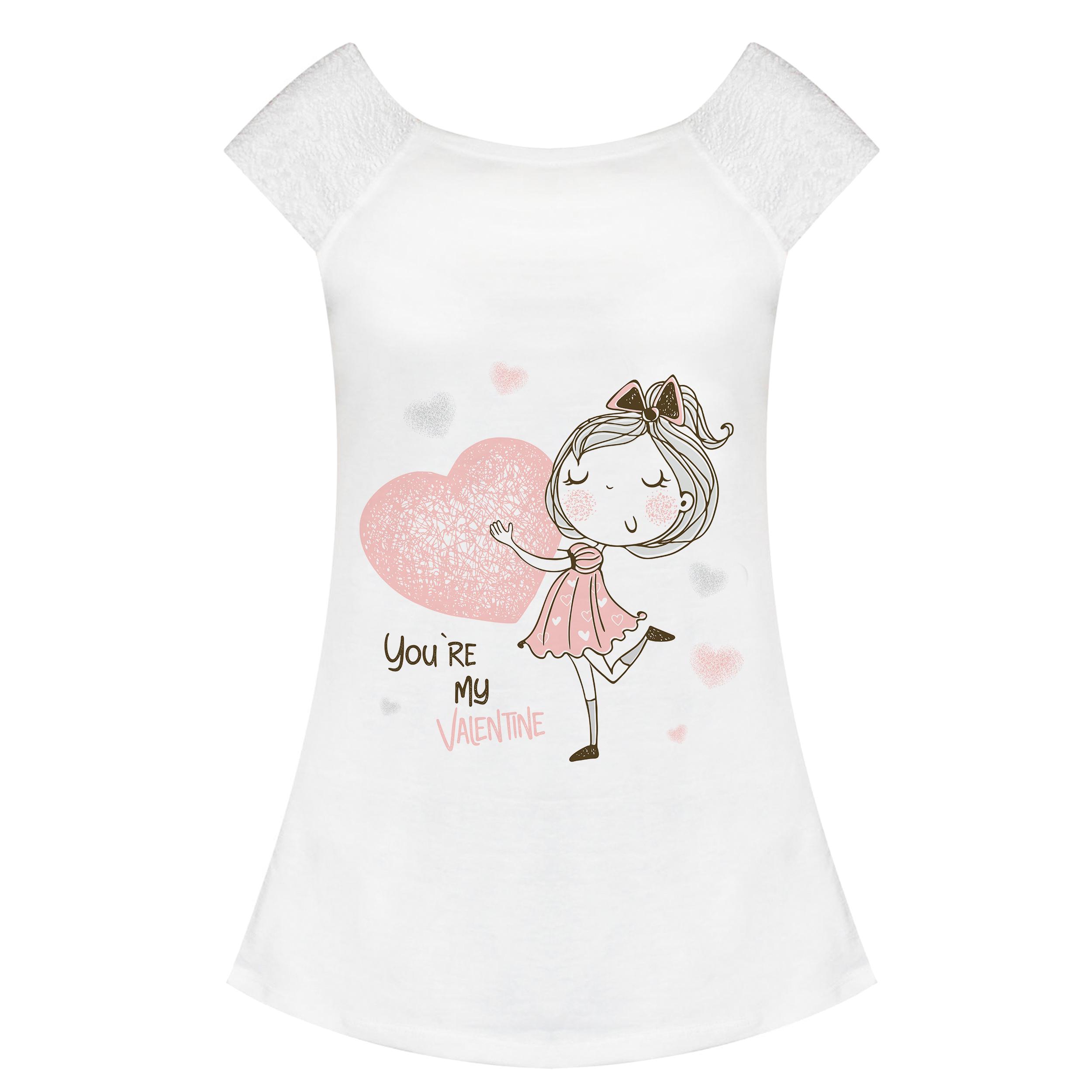 تی شرت زنانه کد ST0005-28