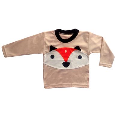 ست تی شرت و شلوار نوزادی طرح روباه ناقلا کد 110033