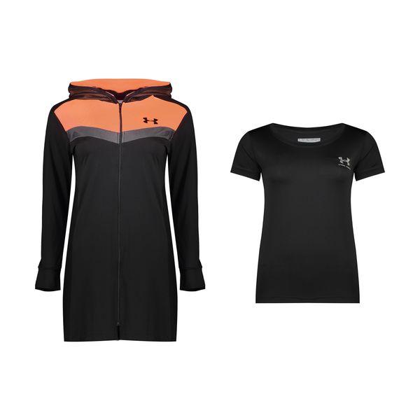 ست گرمکن و تی شرت ورزشی زنانه آندر آرمور کد TH4-0887