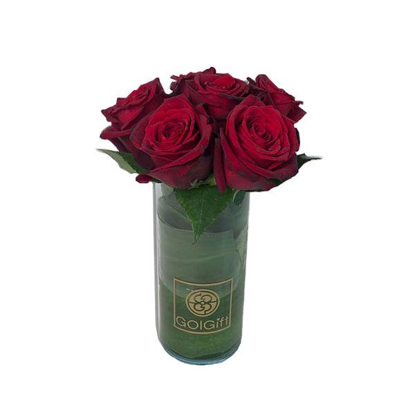 گلدان رز هلندی گل گیفت کد GG005