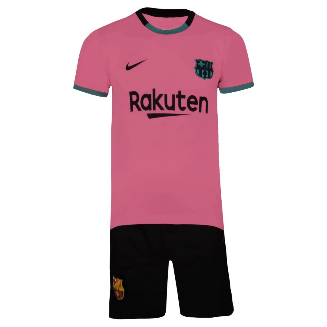 ست 4 تکه لباس ورزشی پسرانه طرح بارسلونا مدل مسی کد 2021 3RD main 1 1