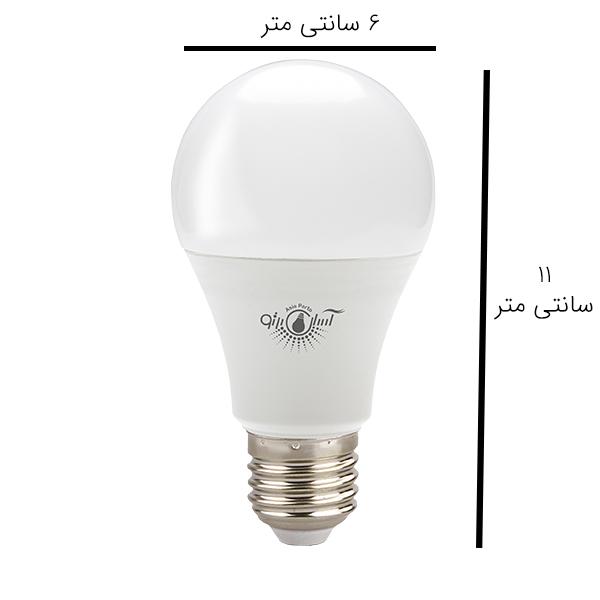 لامپ ال ای دی 10 وات آسیاپرتو مدل A5 پایه E27 بسته 4عددی