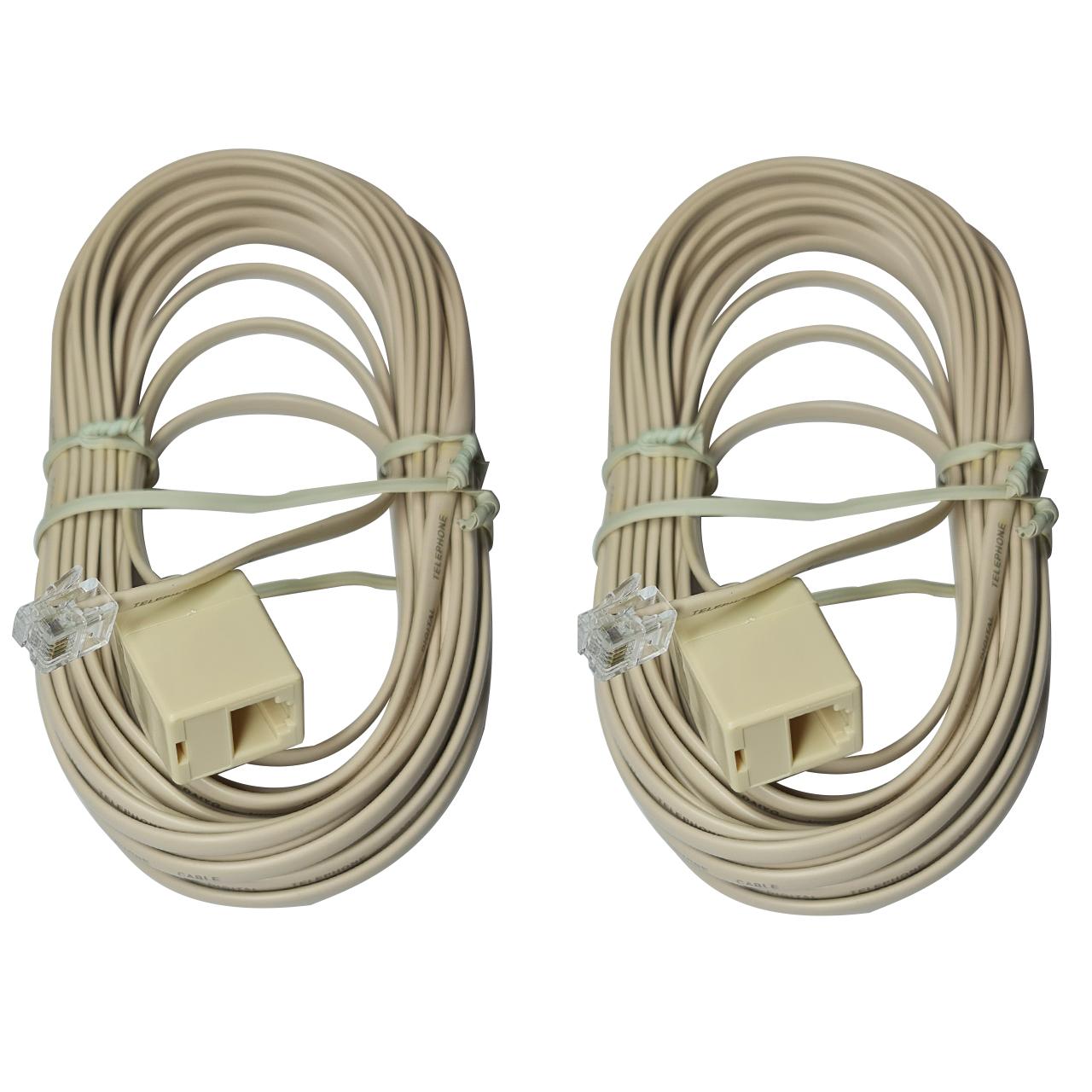 کابل افزایش طول تلفن دایو مدل DT8108 به طول 8 متر بسته دو عددی