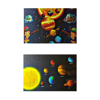 پازل 24 تکه پیرامون مدل سیارات مجموعه 2 عددی