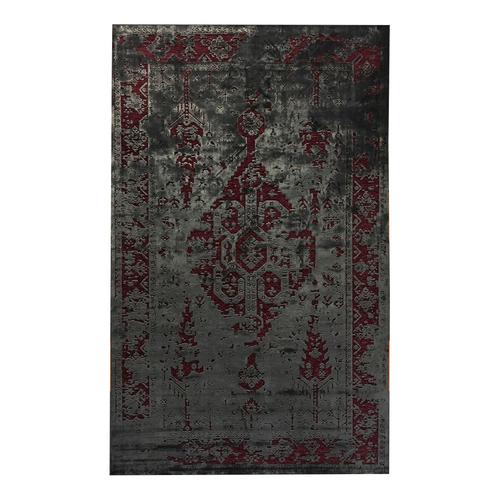فرش ماشینی طرح پتینه کد 18 زمینه بنفش