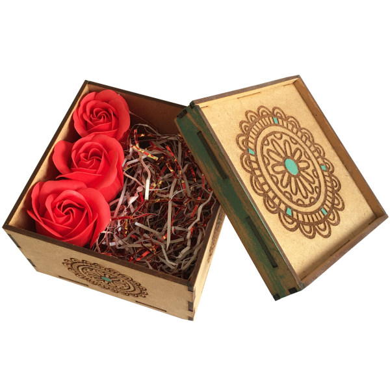 جعبه هدیه گیفت فان طرح گل گرد کد 88