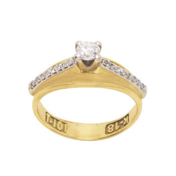 انگشتر طلا 18 عیار زنانه آلند  کد 2046