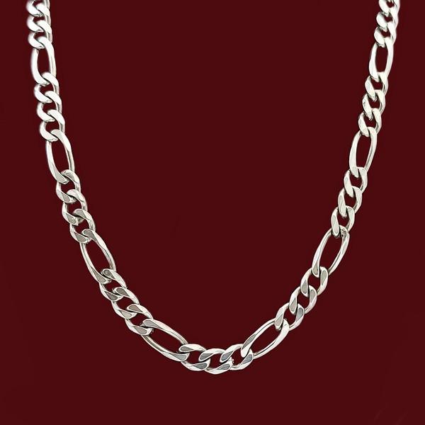 زنجیر نقره مردانه مدل فیگارو VZ5486