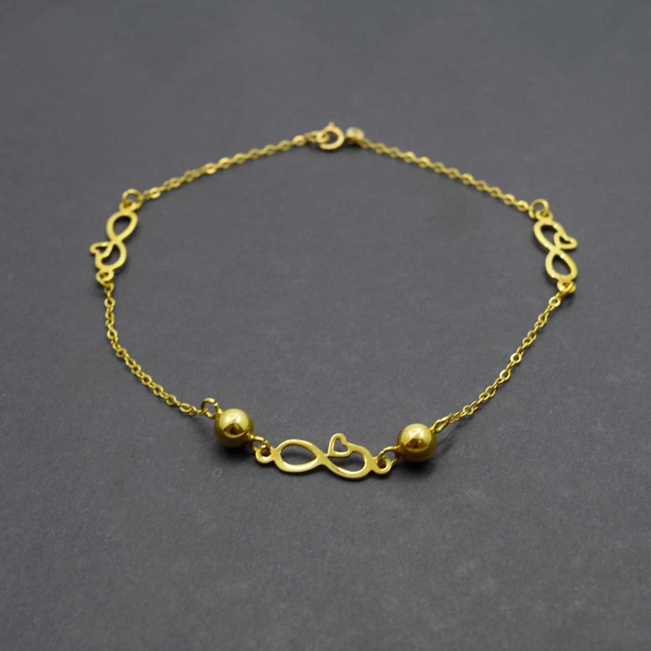 پابند طلا 18 عیار زنانه کانیار گالری مدل SH15