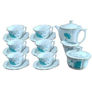 سرویس چایخوری ۱۷ پارچه مقصود مدل نیلوفر