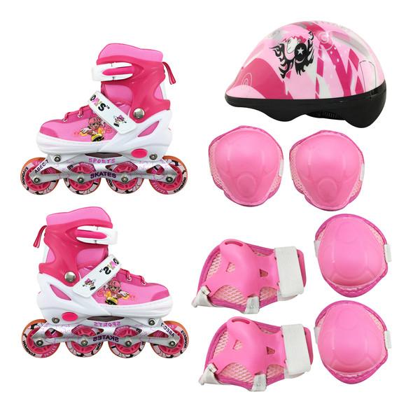 اسکیت کفشی مدلMondays به همراه کلاه و لوازم ایمنی اسکیت