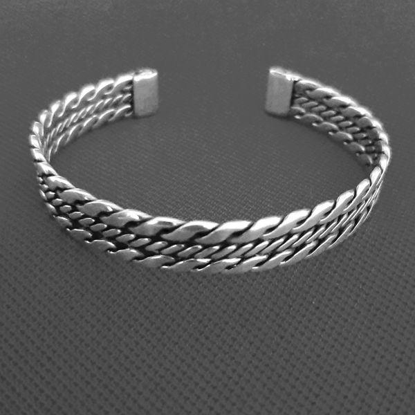 دستبند نقره مردانه کد HG2000